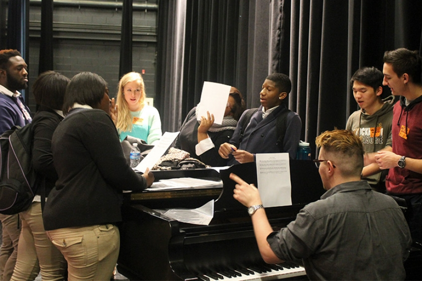 West Phila High School Choir Practice photo 848x565