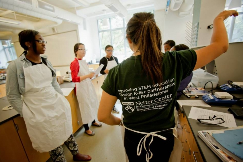 Moelis Access Science Chemistry Days with Penn Intern Teaching photo